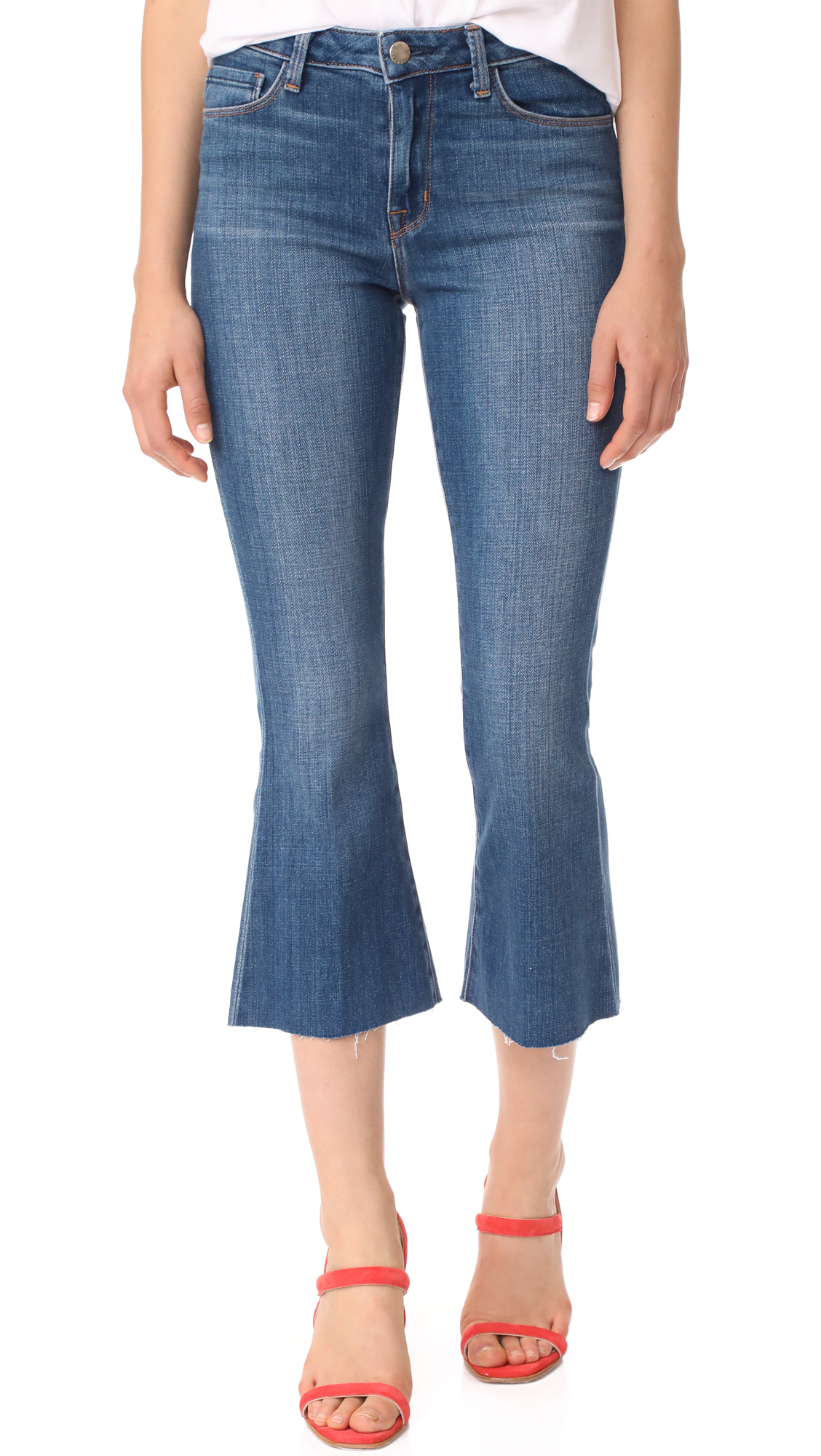 LAGENCE Sophia High Rise Crop Jeans - Authentique
