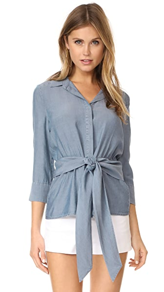 L'AGENCE Colette Button Down In Pacific