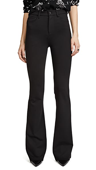 L'AGENCE Lola High Rise Bell Bottom Pants In Black