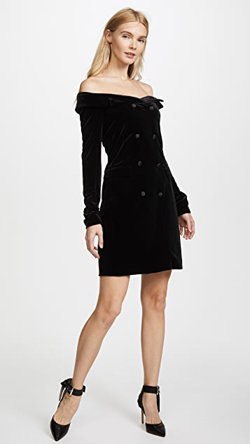 L'AGENCE Romilly Velour Jacket Dress