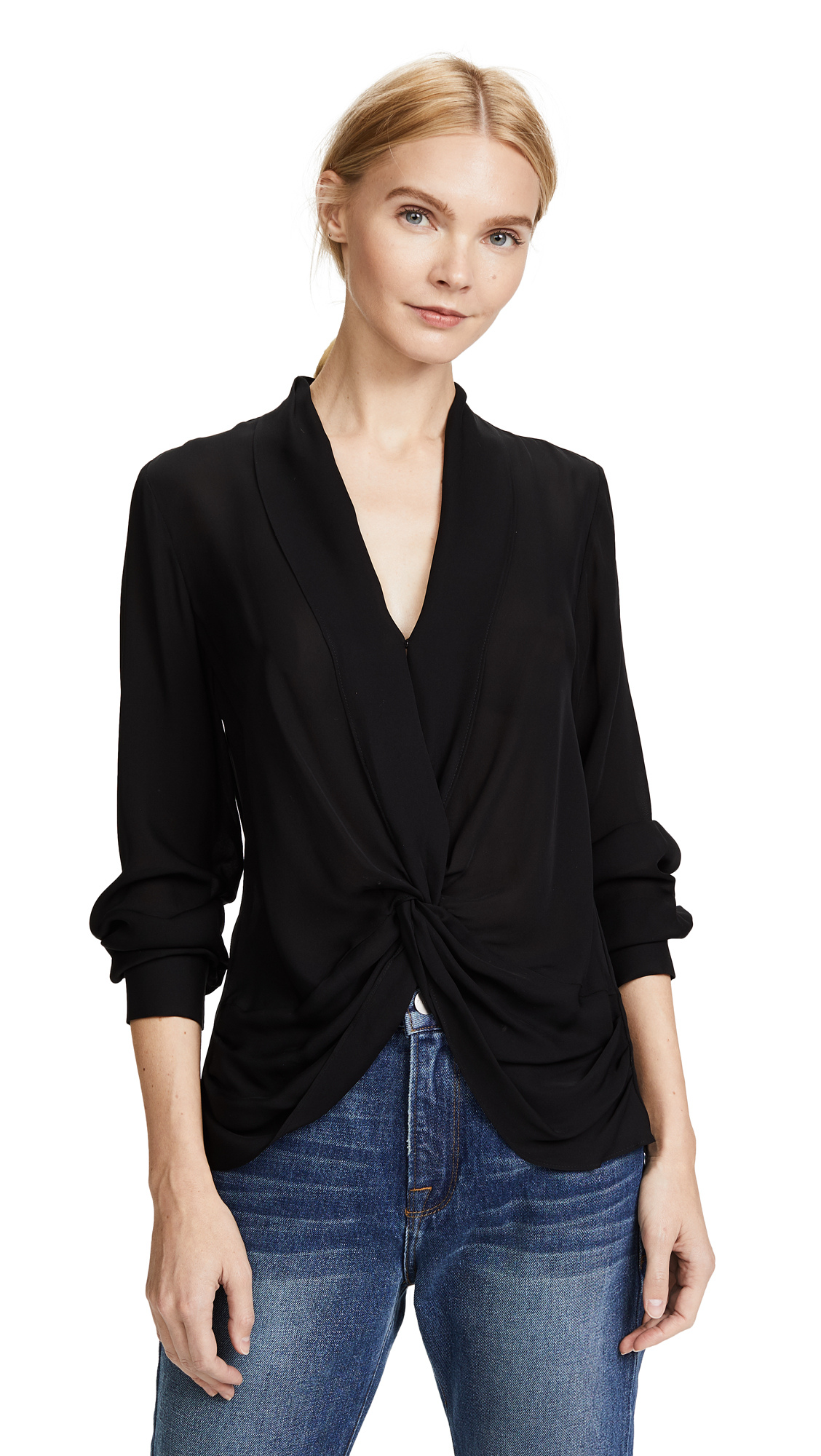 L'AGENCE Mariposa Blouse – 70% Off Sale