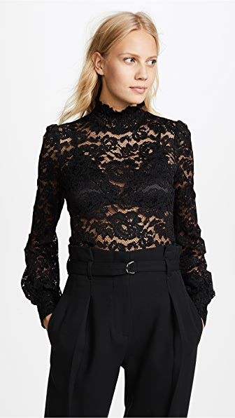 899aba5b39e948 L'AGENCE Samara Black Lace Turtleneck – Mod and Retro Clothing