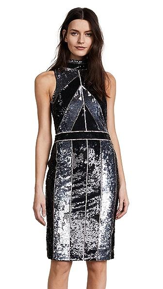 L'AGENCE Rashmi Sequin Dress In Black Multi