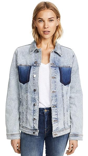 Karina Shadow Pocket Denim Jacket, Classic Sky