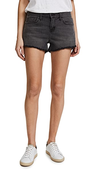 Ryland Faded Black Denim Shorts, Vintage Grey