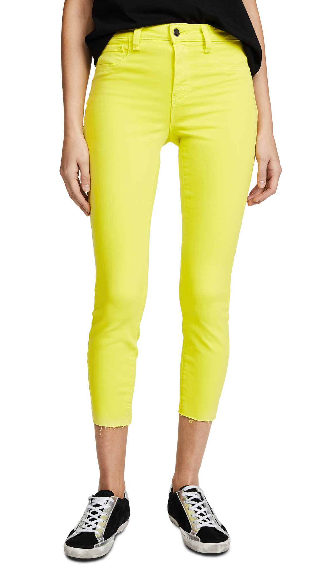 L'AGENCE Margot High Rise Jeans In Citron
