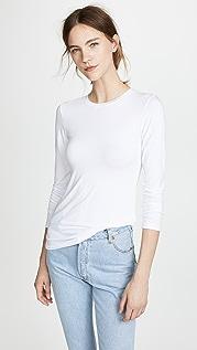 L'AGENCE Рубашка Tess с округлым вырезом