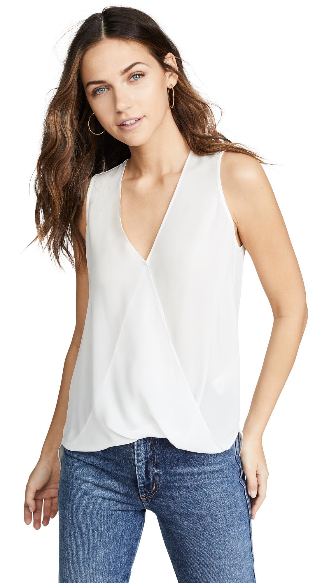 L'AGENCE Mila Draped Sleeveless Blouse - 50% Off Sale