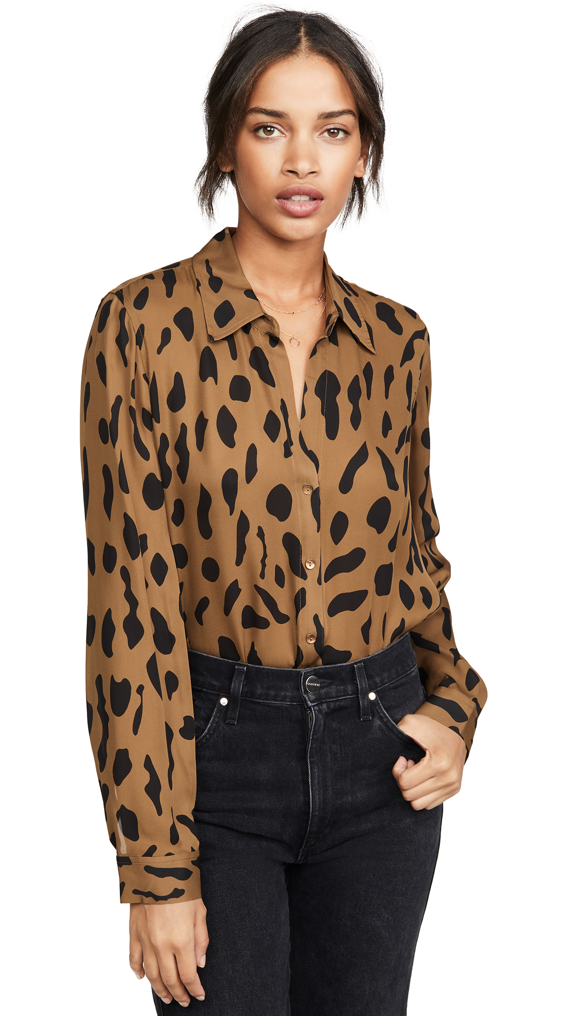 L AGENCE NINA LONG SLEEVE BLOUSE
