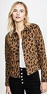 L'AGENCE Celine Spot Animal Print Jacket