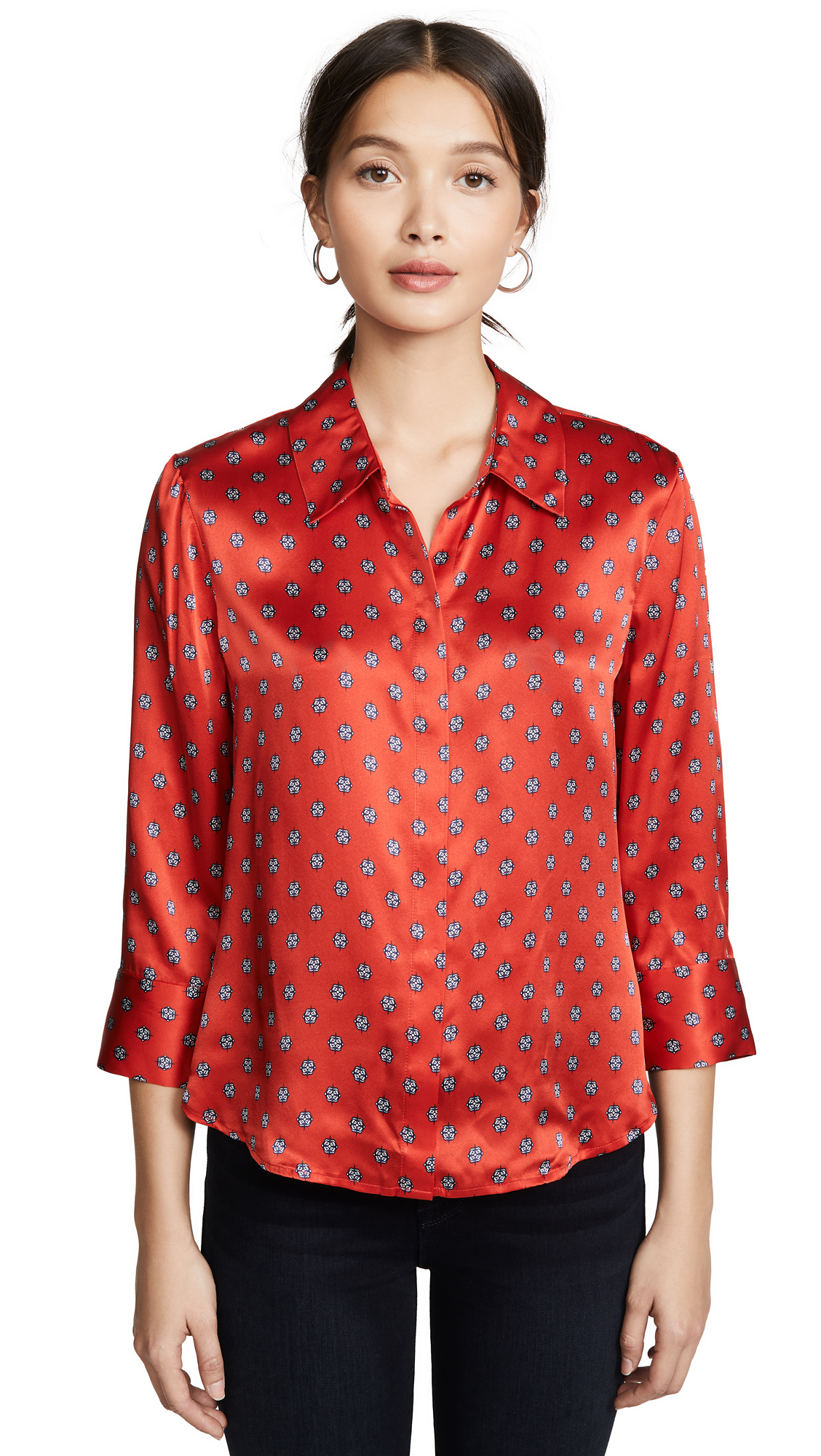 Buy L'AGENCE online - photo of L'AGENCE Jil Crop Blouse
