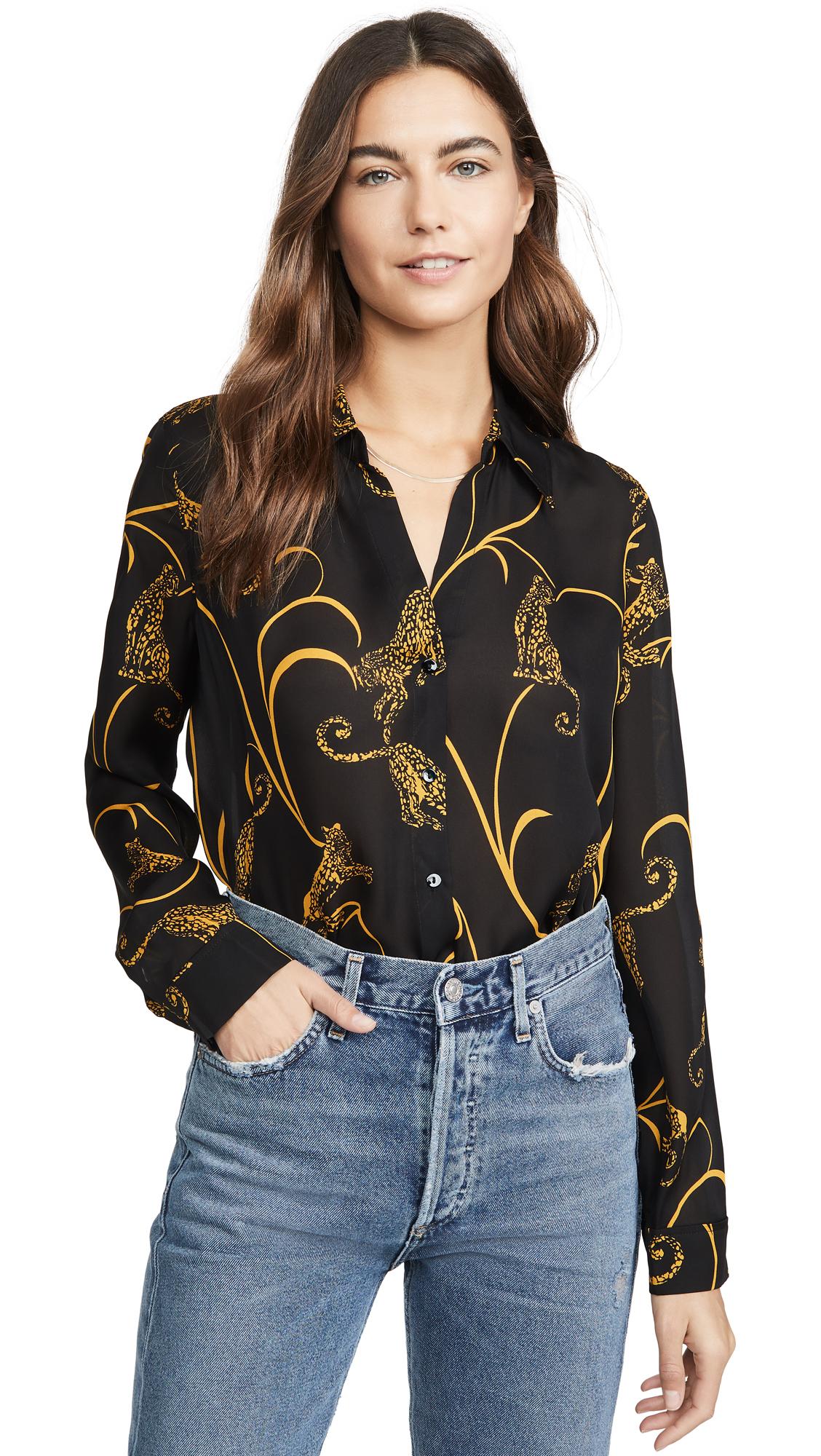 L'AGENCE Nina Long Sleeve Blouse - 30% Off Sale