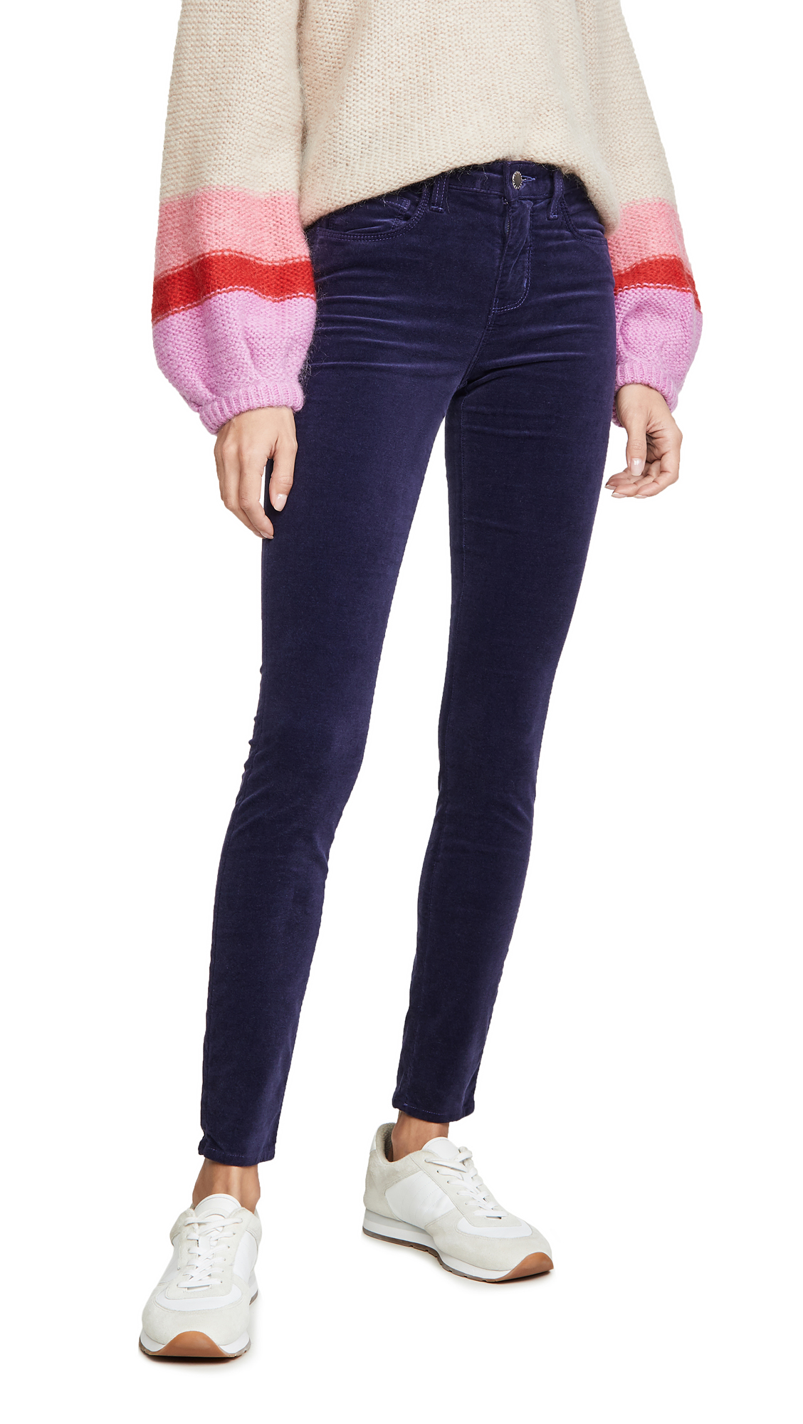 Buy L'AGENCE online - photo of L'AGENCE Marguerite Velvet High Rise Skinny Jeans