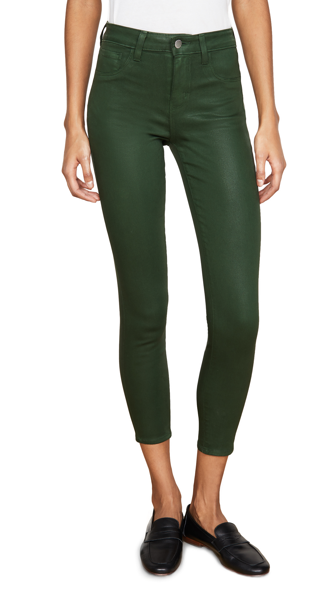Buy L'AGENCE online - photo of L'AGENCE Margot Coated High Rise Skinny Jeans