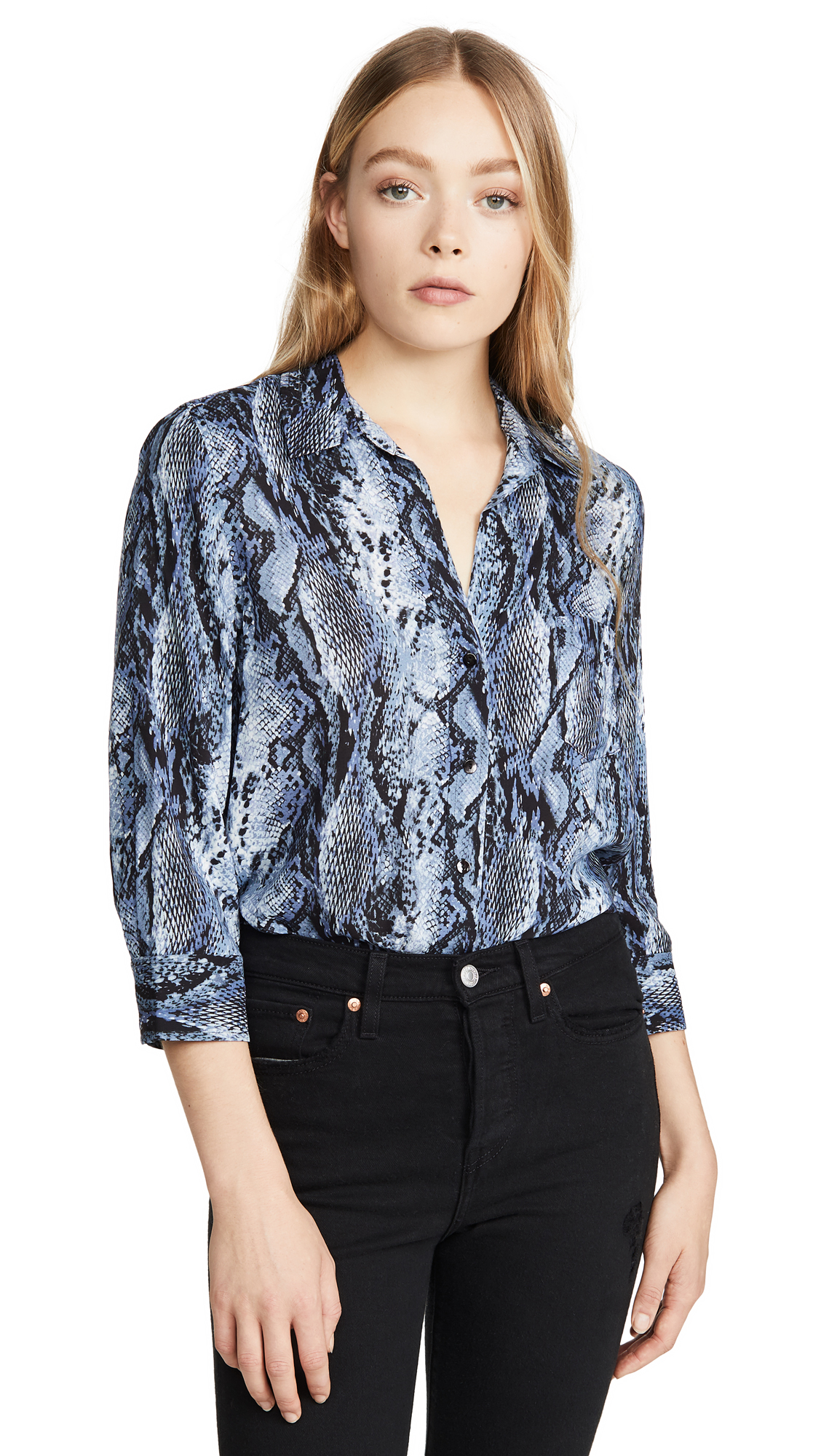 Buy L'AGENCE online - photo of L'AGENCE Ryan 3/4 Sleeve Blouse