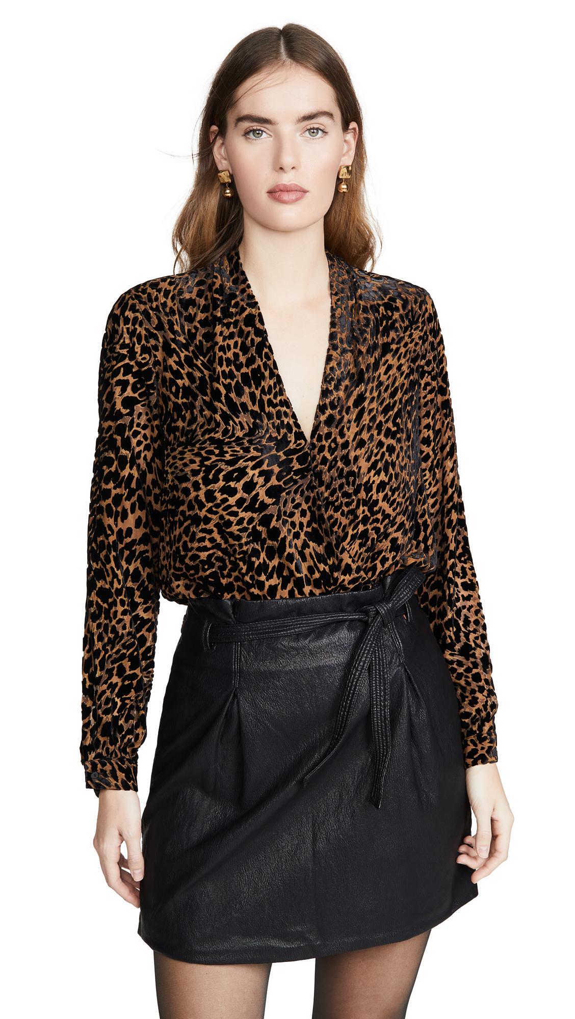 L'AGENCE Lydia Drape Front Blouse - 70% Off Sale