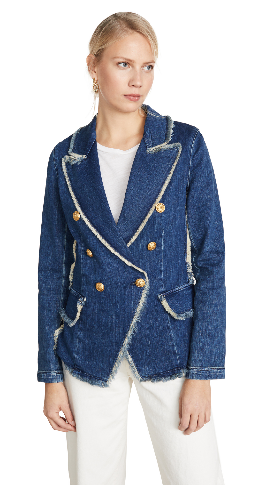 Buy L'AGENCE online - photo of L'AGENCE Kaydence Fray Jacket