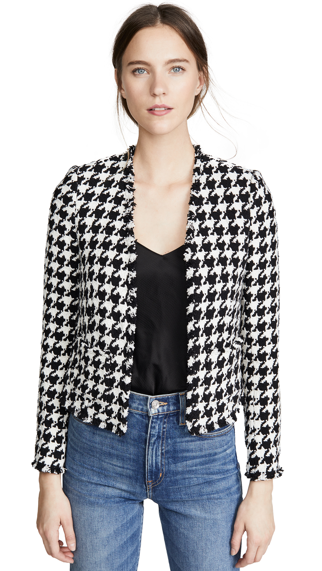 Buy L'AGENCE online - photo of L'AGENCE Adette Collarless Blazer