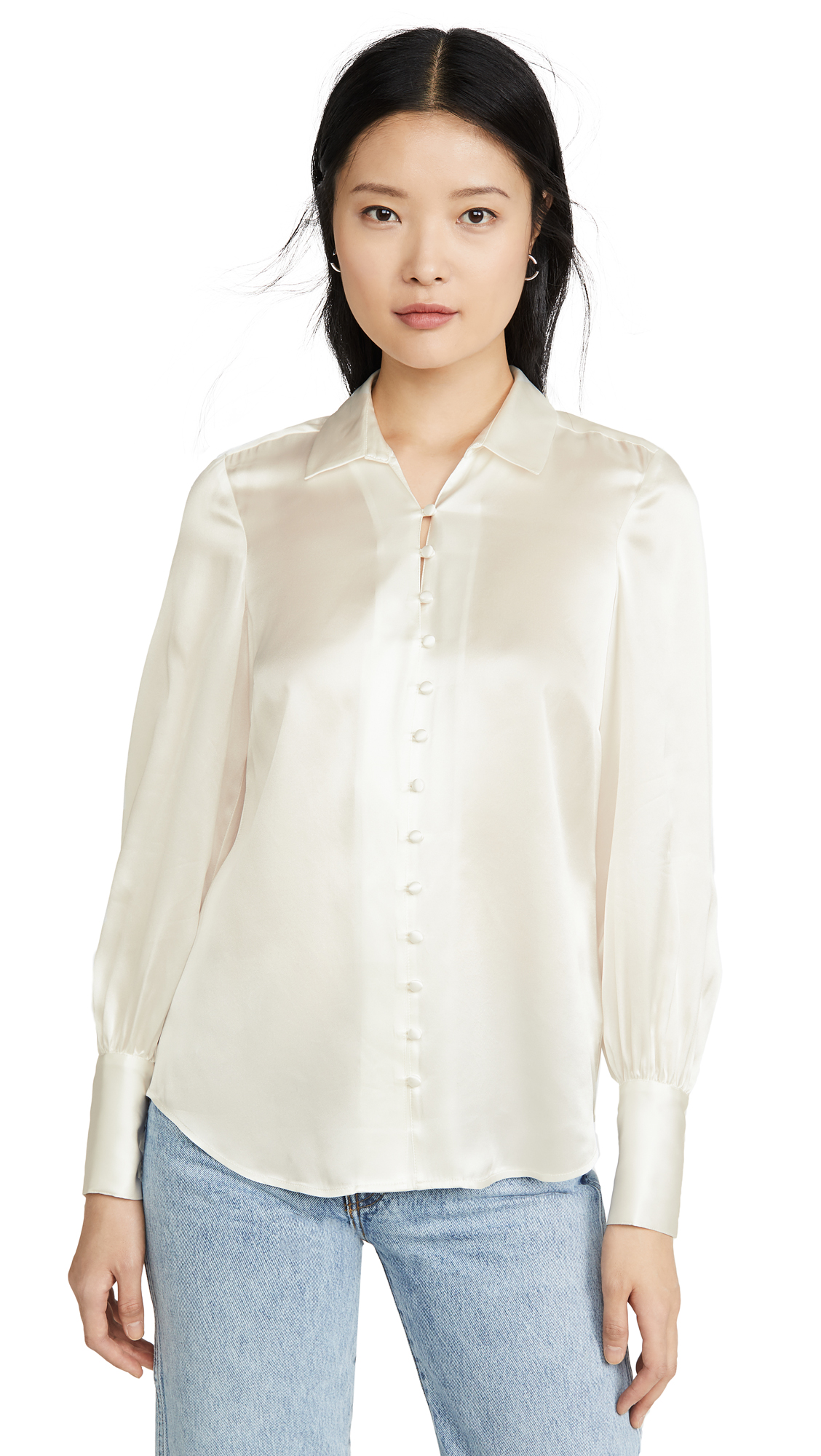 L'AGENCE Naomi Button Loop Blouse - 30% Off Sale