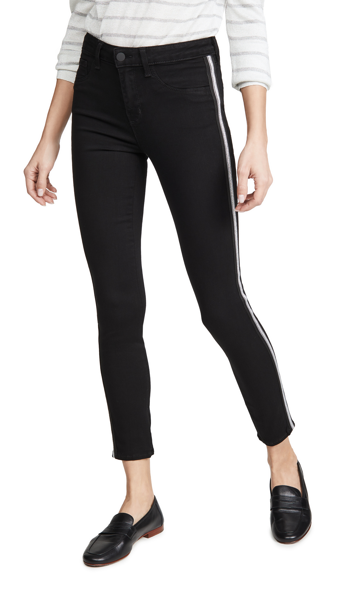 Buy L'AGENCE online - photo of L'AGENCE Margot High Rise Skinny Jeans with Taping