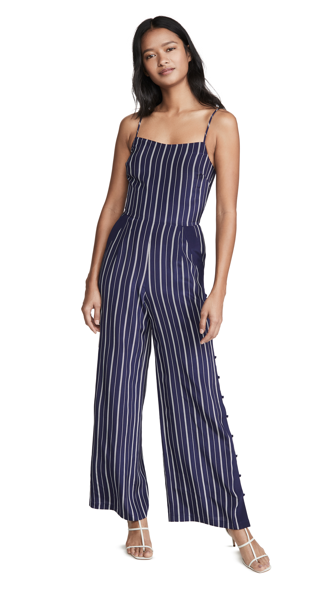 Buy L'AGENCE online - photo of L'AGENCE Finley Button Leg Jumpsuit