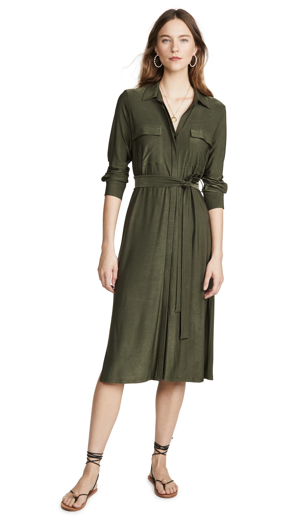 Buy L'AGENCE Rivi Long Shirtdress online beautiful L'AGENCE Clothing, Dresses