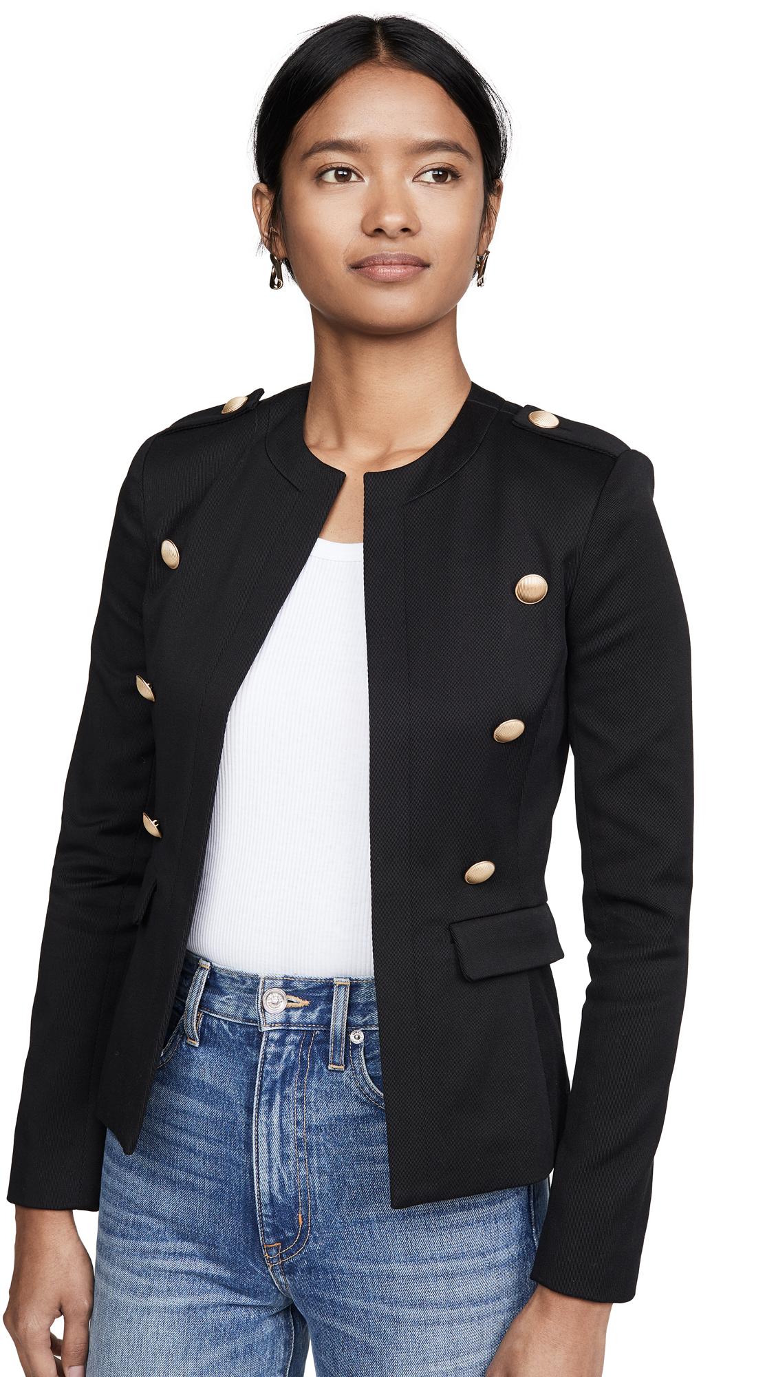 Buy L'AGENCE Rye Military Jacket with Round Neck online beautiful L'AGENCE Jackets, Coats, Coats