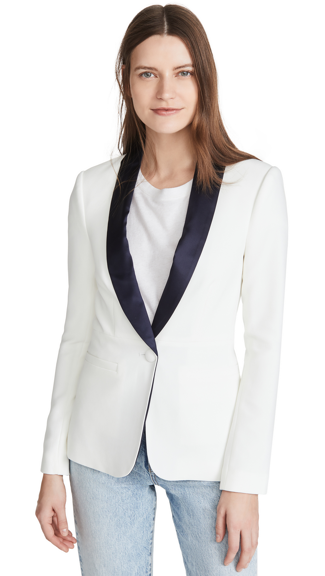 Buy L'AGENCE Smoking Jacket with Contrast Lapel online beautiful L'AGENCE Jackets, Coats, Coats