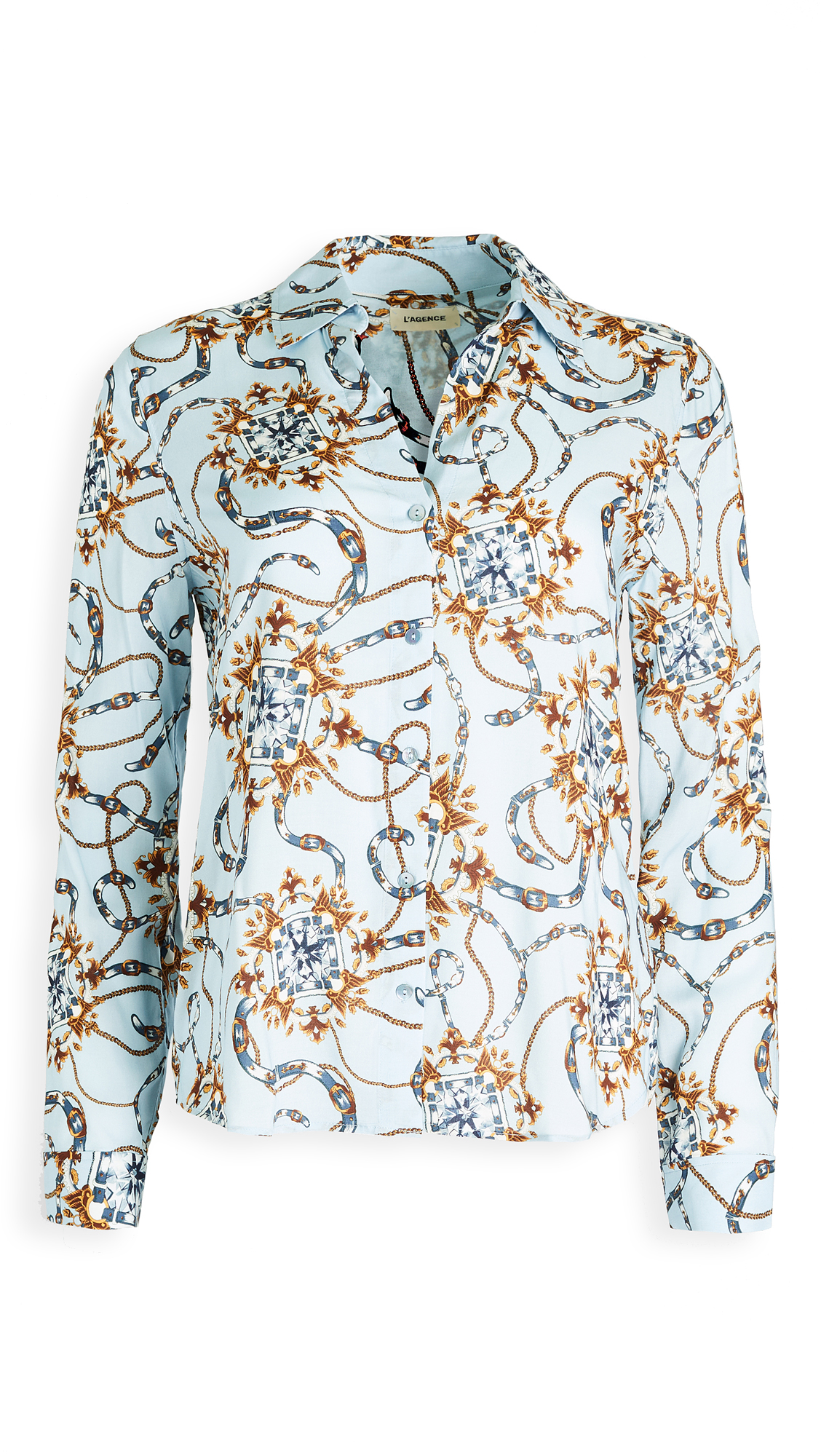 L'AGENCE Holly Long Sleeve Blouse - 30% Off Sale