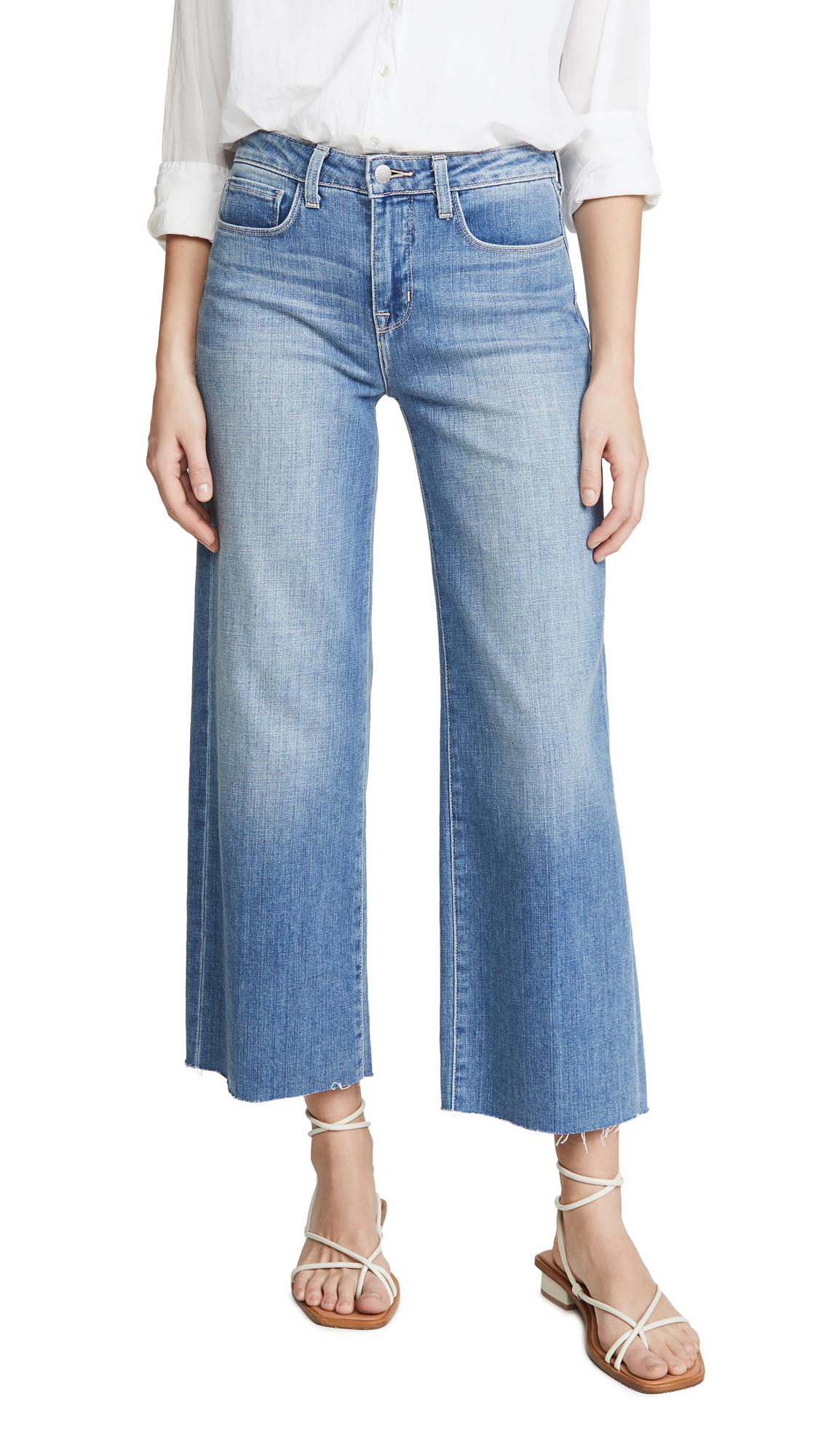 L'AGENCE Danica High Rise Wide Leg Jeans