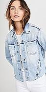 L'AGENCE Janelle 修身毛边夹克
