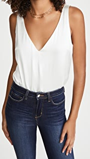 L'AGENCE Willow V Neck Blouse