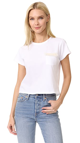 Liana Clothing The Pelage Top In White/White