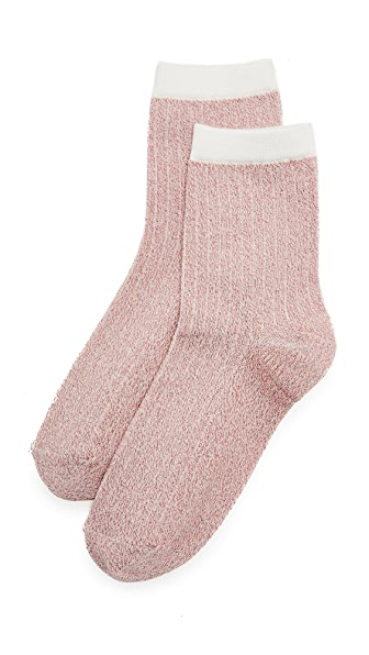 Liana Clothing Lurex Glitter Socks - Pink