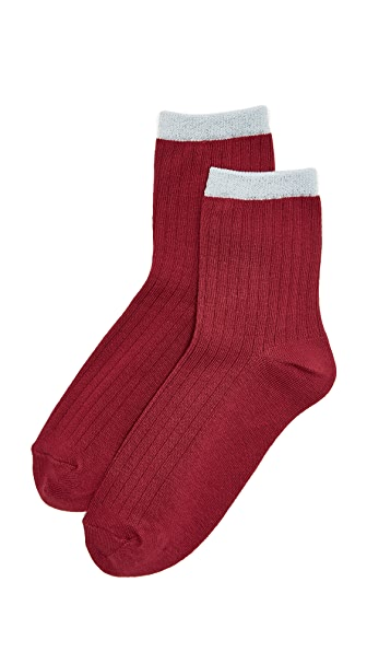 Liana Clothing Lurex Pipe Socks