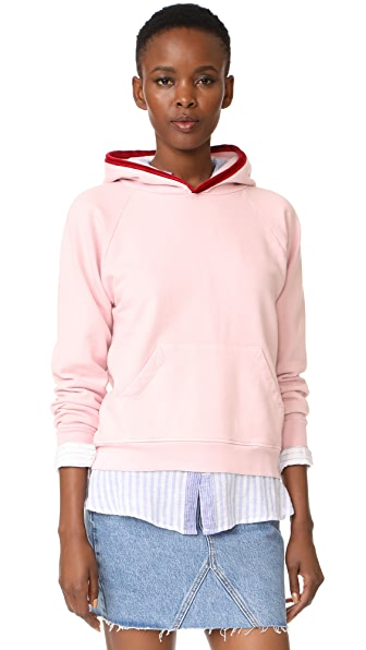Liana Clothing Flea Sweatshirt - Pink with Red Contast