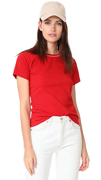 Liana Clothing Height Velvet Tee In Red With Champagne Glitter