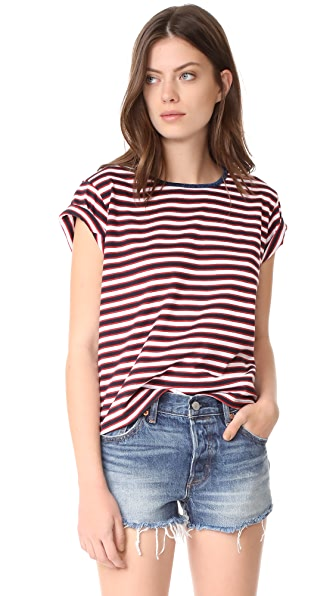 Liana Clothing Sister Stria Tee In Red, White & Blue Stripes