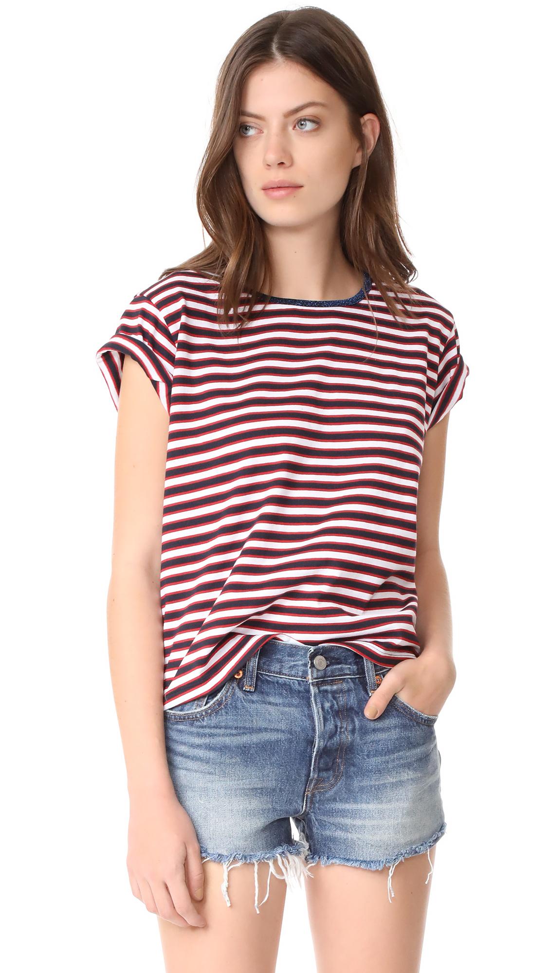 Liana Clothing Sister Stria Tee - Red, White & Blue Stripes