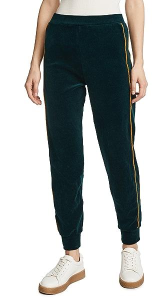 Liana Clothing Plush Pants In Hunter/Gold