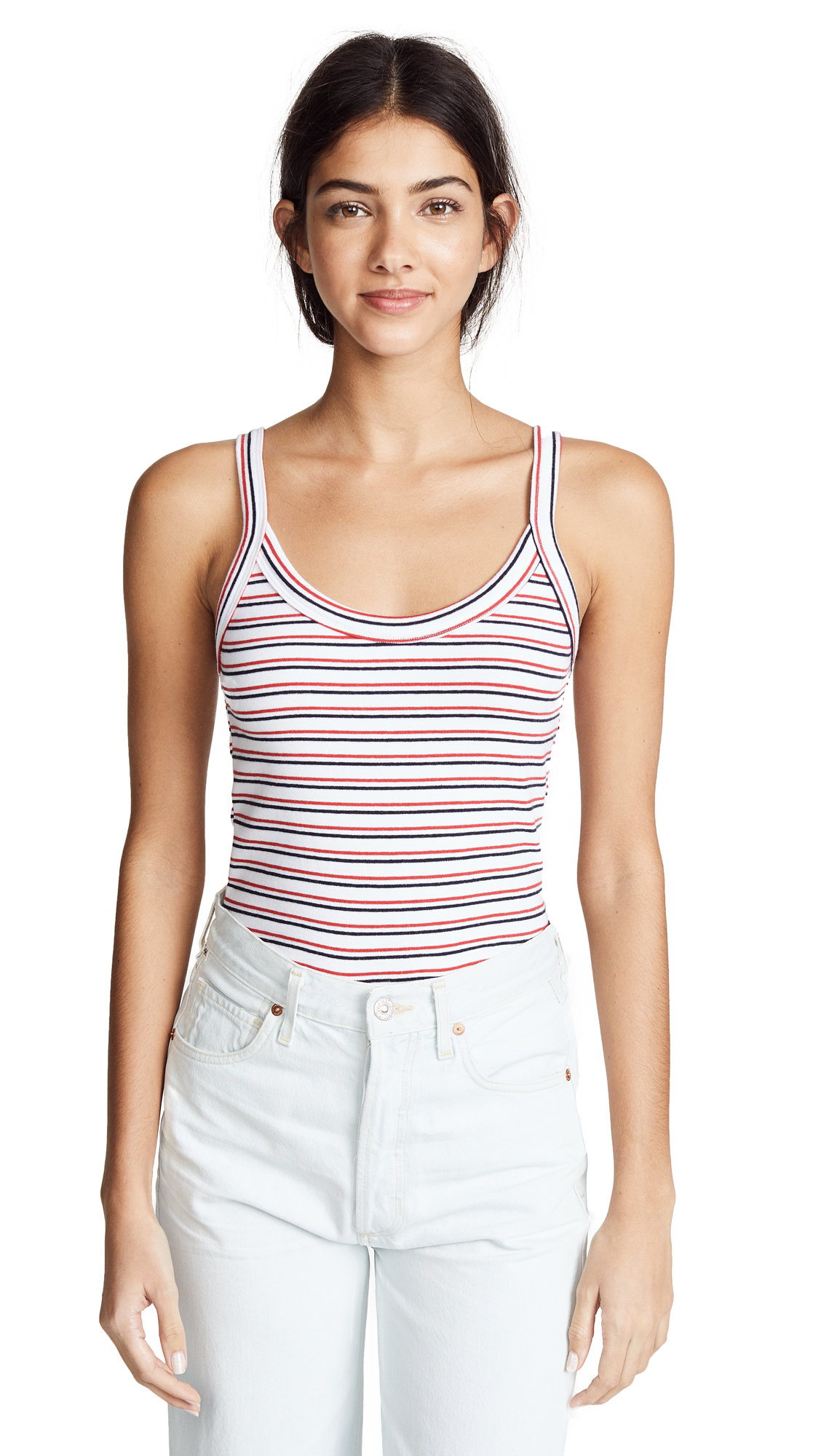 LIANA CLOTHING The Stria Tank in Red/Navy/White