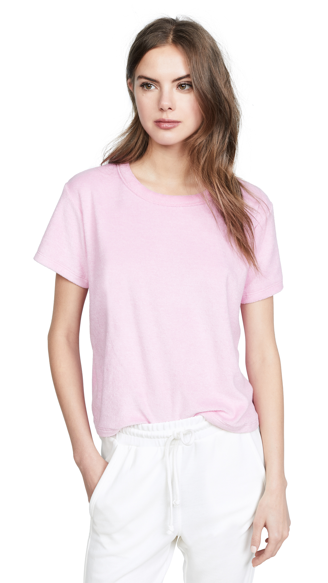 Liana Clothing The Terry Margo Tee In Pink