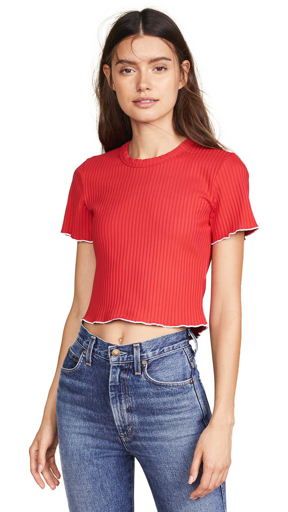 LIANA CLOTHING The Ruby Tee in Red/White