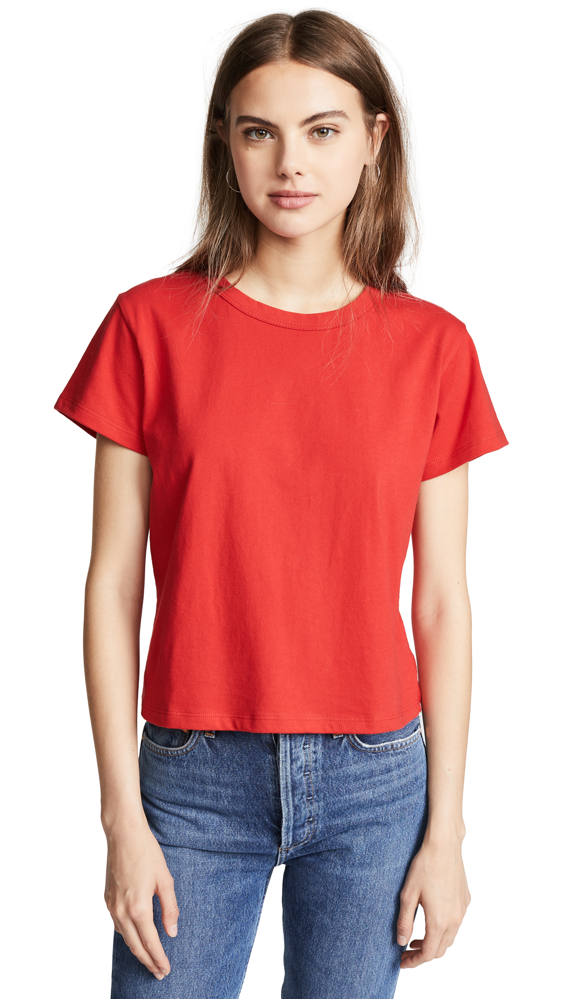 LIANA CLOTHING The Margo Standard Tee in Red