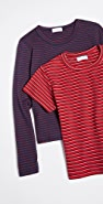Leset The Vintage Stripe Essentials Tee 2 Pack