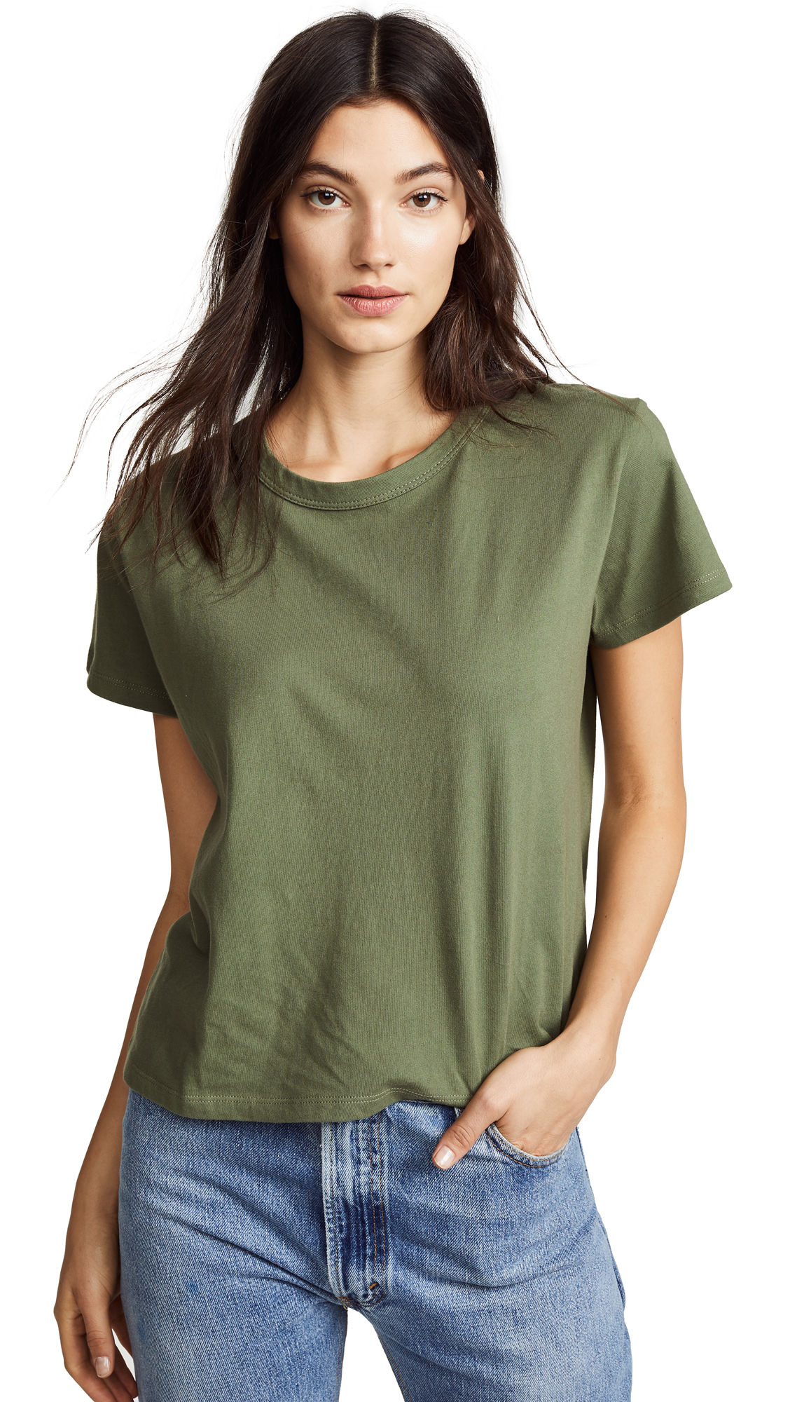 LIANA CLOTHING The Margo Standard Tee in Forest