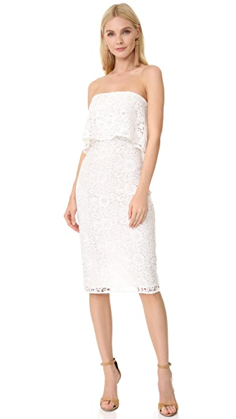 LIKELY Lace Driggs Dress - White