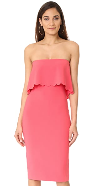 LIKELY Scalloped Driggs Dress In Flamingo