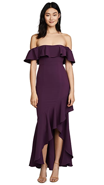 LIKELY Cabrera Gown In Deep Purple