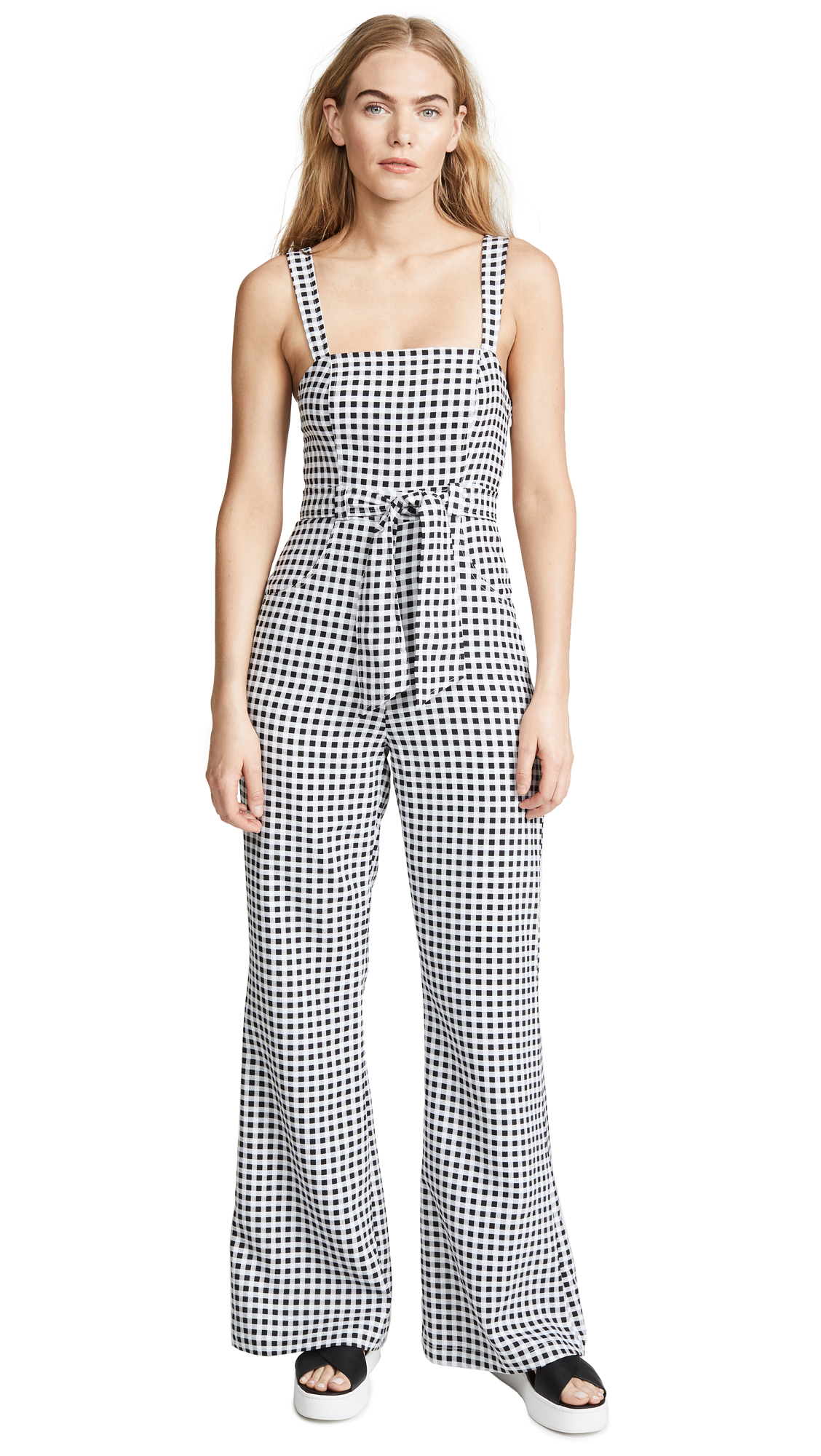 LIKELY Dahlia Jumpsuit In Black/White